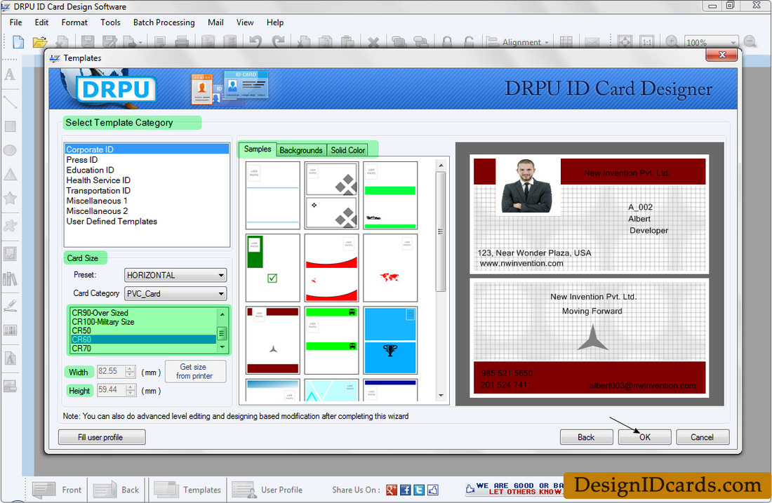 design identity cards for staff or students id cards maker software