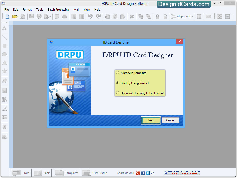 ID Cards Maker Software - Design Identity cards for staff or students